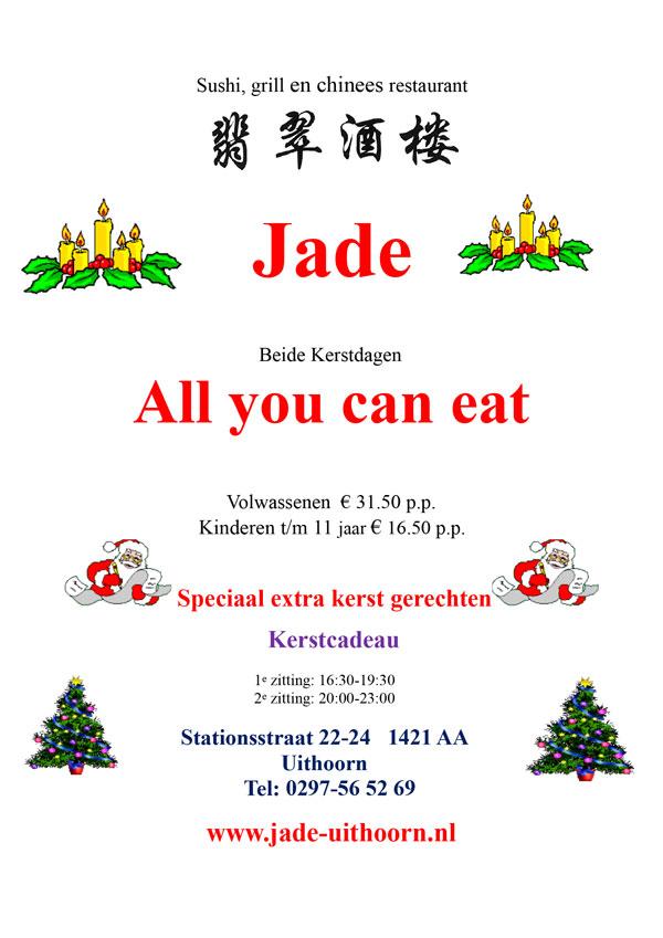 Vier de kerst bij Restaurant Jade Uithoorn